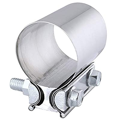 EVIL ENERGY 2.0 Inch Butt Joint Exhaust Band Clamp Sleeve Stainless Steel