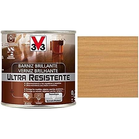 V33 - Barniz ultra resistente brillante roble claro 0,25l