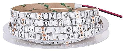 GYY Lámpara de Phyto de la Tira LED 5M LED Cultive Lights 5050 300 Leds Espectro Completo Fitolampy con Adaptador de alimentación 12V Interruptor táctil (Color emisor: Sólo Tira LED)
