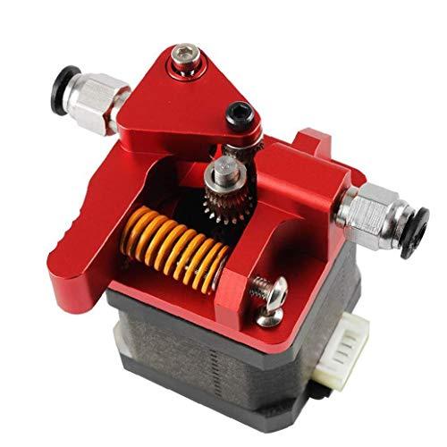 3D-Drucker Extruder Upgraded Metall Adapter Dual Drive Extrusion Kit für Mk8 3D Druckerzubehör Red