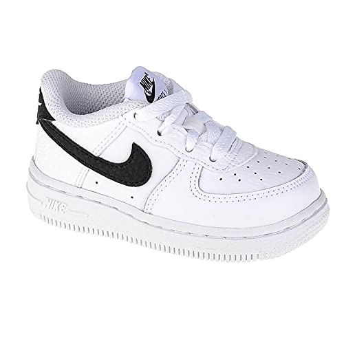 Nike Force 1 (TD), Scarpe da Ginnastica Unisex-Bambini, White/Black, 18.5 EU