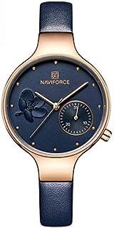 نافي فورس ماركة الساعات أزياء المرأة كوارتز الساعات النسائية ساعة اليد للإناث NF5001