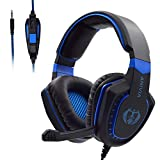 Gaming Headset with Microphone for Xbox One PC PS4 - PC Gaming Headphones with Mic, AH28 Wired Over Ear Gaming Headphone for PC MAC Computer Laptop Playstation 4, Xbox one Controller, Phones