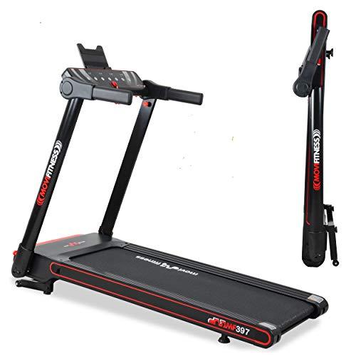 Movi Fitness Tapis roulant Professionale MF297, Pieghevole salvaspazio, Bluetooth,App Fitshow,Motore 2,5 HP,Extra Slim, Ricevitore Wireless Fascia Cardio (Senza Fascia Cardio)