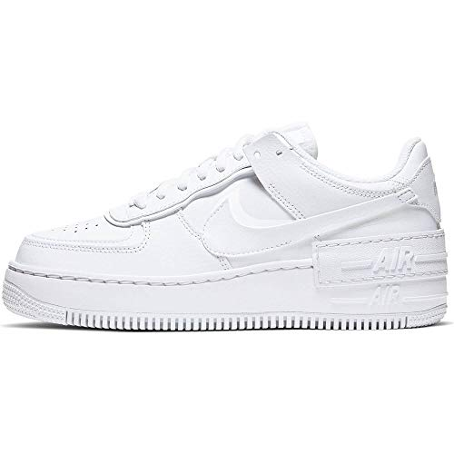 Nike Air Force 1 Shadow, Running Shoe Womens, Blanco, 38 EU