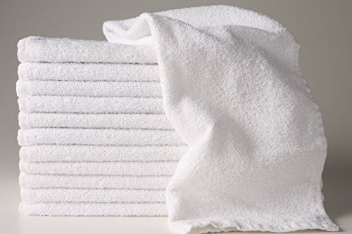 12 New White 22x44 100% Cotton Terry Bath/salon 6.15# Dozen Gym Towels Unused By Omni Linens