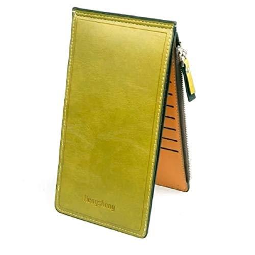 Ducomi - Cartera con tarjetero para 18 tarjetas, unisex, con cremallera, con monedero, billetera, para regalo, original, para Navidad, de hombre y mujer , Verde