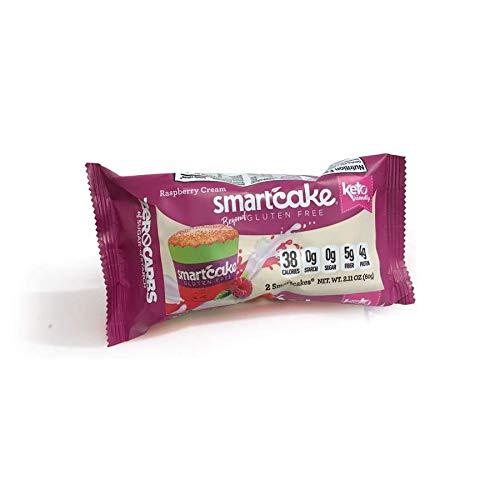 Keto Cakes, Keto Cupcakes, SmartCake, 0 Carbs, Smart Baking Company, Gluten Free, Non-GMO, Low Carb (Raspberry, 1 Package)