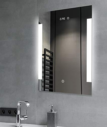 SGSpiegel Badspiegel mit Beleuchtung – 705016A Badezimmerspiegel mit LED beleuchtete Antibeschlag, 50x70cm, Weiß Lichtfarbe, Energieklasse A++