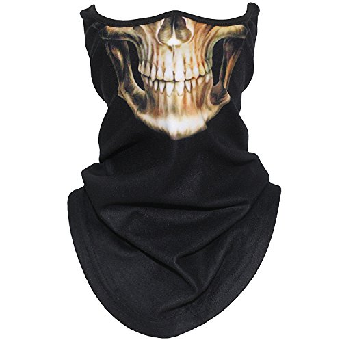 AXBXCX Animal 3D Prints Neck Gaiter Warmer Half Face Mask Scarf Windproof Dust UV Sun Protection for Skiing Snowboarding Snowmobile Halloween Cosplay Skull Skeleton Ghost