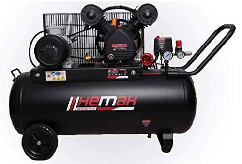 HEMAK HK-R100/10 Kompressor Riemenantrieb 100 l 10 Bar Druckluft-Kompressor 400V Starkstrom