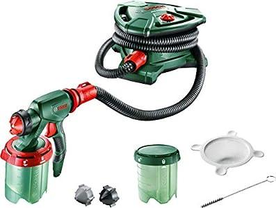 Bosch PFS 5000 E - Sistema de pulverización de pintura (1200 W, 2 depósitos para pintura de 1000ml, boquilla para pintura de paredes, barniz, esmalte, cepillo de limpieza)