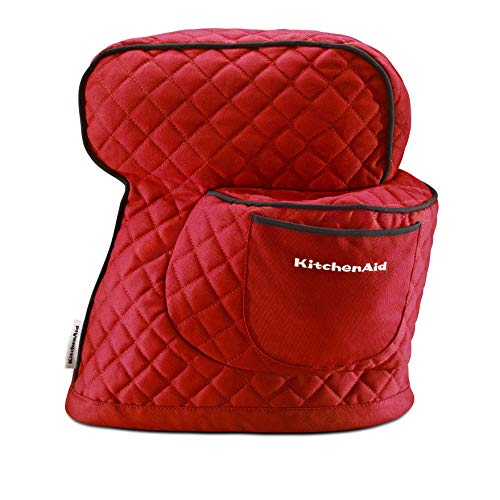KitchenAid Fitted Stand Mixer Cover for Tilt head stand mixer models (4.5-quart and 5-quart), Empire Red