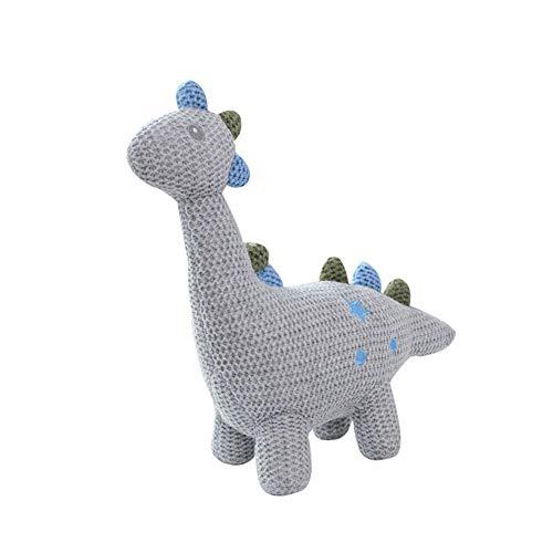 Beito Nordic Art gestrickte Dinosaurier Puppe Spielzeug-Säuglingsschlaf Appease Puppe Stofftier-Spielzeug für Mädchen-Kinder