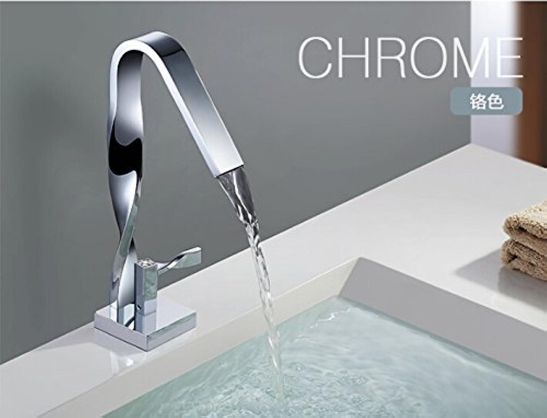 U-Enjoy Gesamt-Messingchrom Hochverotelte Badezimmer Einhebel-Warmen Und Kalten Wannen-Hahn-Hahn-Mischer [Kostenloser Versand]