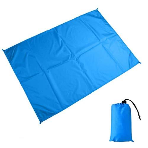 TOSSPER 140 * 150cm Portátil Plegable Plegable Impermeable a Prueba De Arena Beach Blanket Área De Camping Colchón De La Estera Al Aire Libre Alfombra De Picnic Manta