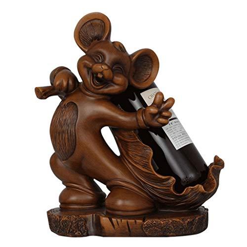 Botelleros Botellero Vino Resina Vino Bastidores de la Novedad del Zodiaco Rata sostenedor de la Botella de Vino Escultura estatuas Estante de Almacenamiento Animales Living Soporte gabinete del Vino