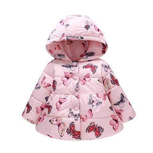 CHIYEEE Mädchen Winterjacke mit Kapuze Oberbekleidung Kleidung Verdichte Kinderjacke Wintermantel Mantel Parka