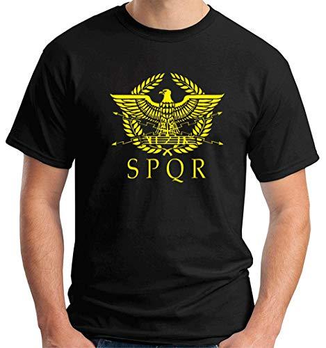 T-Shirt Hombre Negro T1306 SPQR Roma
