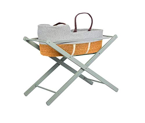 moKee Soft Seagrass Moses Basket with Stand, Yellow