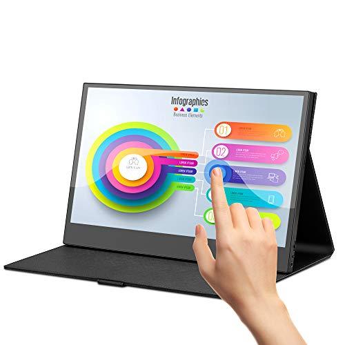 Eyoyo 13.3 inch USB C Touchscreen Monitor 1920x1080 IPS Portable Monitor Second Monitor for Laptop PC Mini PC Screen w/USB-C & HDMI Input