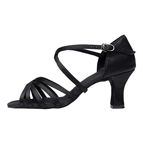 Meijunter Chaussures de Danse Latine à Talons Professionnels pour Femmes - Sandales à Talons Hauts Salsa Rumba Salle de Bal Intérieure Semelle en Daim Intérieur Doux