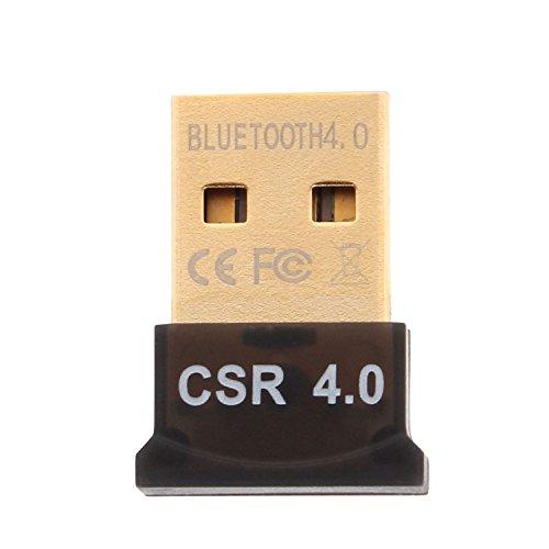 Aukru® USB Nano Bluetooth Adapter V4.0 Bluetooth 4.0 USB Adapter inkl. EDR mit LED | Plug & Play | für PC Windows XP/Vista / 7/8 /8.1 Bluetooth Stereo | kompatibel Bluetooth 2.1