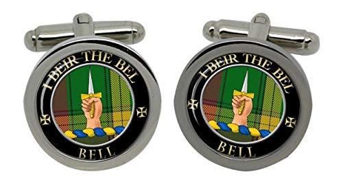 Bell de Clan écossais Kirkconnel United-Boutons de manchette Homme-Chromé-Coffret cadeau