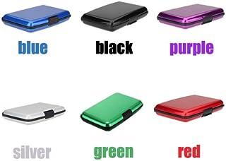 Vattentät business ID kreditkortshållare aluminium metall fodral låda (set med 8 färger)