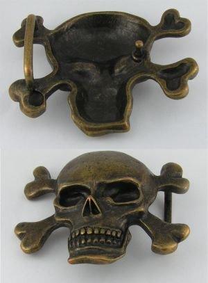 '1 closure buckle BUCKLE' Skull 4 skull stainless brass 06.75