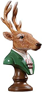ZGPTX Creative Gentleman Moose Ornaments American Home Decoration Living Room Wine Cabinet Craft Bedroom Accessories