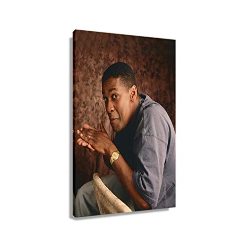 Denzel Washington Poster Pictures for Bedroom Wall Decor Aesthetic Prints Photo Bathroom Painting on Canvas Art for Office Giclee Artwork Rectangular Painting Decorations for Home Modern Artwork (24*36inch,Framed)