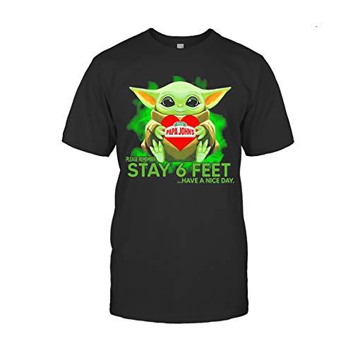 Bäbÿyödä Hug Papa Johns Pizza Please Remember Stay 6 Feet Have A Nice Day Shirts