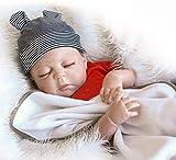 Pinky Reborn Real Life Like 18 Pulgadas 45cm de Cuerpo Completo de Silicona Reborn Doll Vinilo Suave Realistic Newborn Baby Doll Jungen Imán Impermeable Chupete