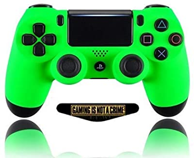 Soft Touch Neon Green Ps4 PRO Rapid Fire Custom Modded Controller 40 Mods for All Major Shooter Games, Quick Scope, Auto Run, Sniper Breath, Jump Shot, Active Reload & More (CUH-ZCT2) from ModdedZone