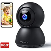 Victure 1080P FHD 2.4G WiFi Baby Monitor with Motion Tracking Sound Detection Security Indoor Camera for Baby/Pet/Elder with 2-Way Audio, Auto Night Vision