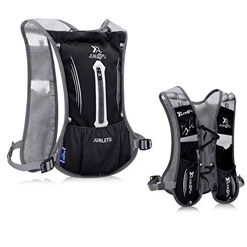 QTER mochila de hidratación de 2 litros, ligera, transpirable, bolsa de vejiga de agua, para exteriores, senderismo, maratoner, carrera, senderismo, montañismo, maratonero, caminatón, color rojo