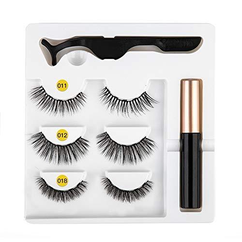Eyeliner magnétique Kit de faux cils facile à porter Eyeliner liquide à séchage rapide Eyeliner magnétique de faux cils Eyeliner liquide magnétique Eyeliner liquide Faux Cils Jeu de pincettes # Mix 17