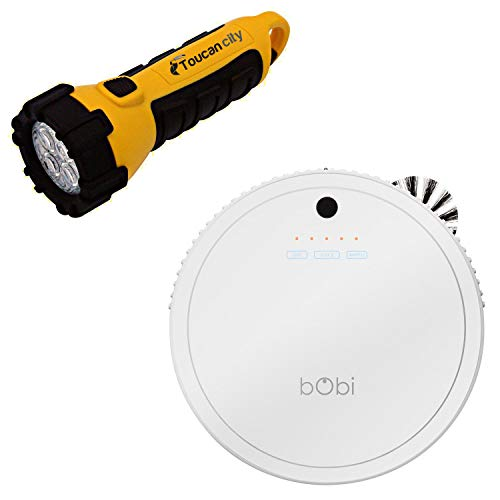 Toucan City LED Flashlight and bObsweep bObi Classic Robotic Vacuum Cleaner, Snow 726670294647