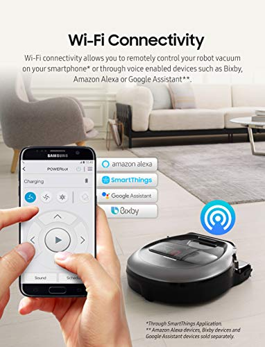 Samsung POWERbot R7065 Robot Vacuum, Works with Amazon Alexa