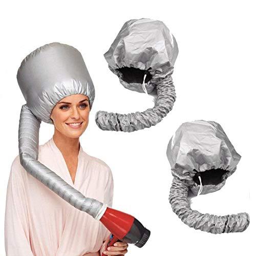 Gorro de nailon para secar el cabello Gorro de ducha Gorro portátil suave con capucha Sombrero Accesorio para secador de pelo Curlformers Gris Gorro de crema para el cabello seco-Gris