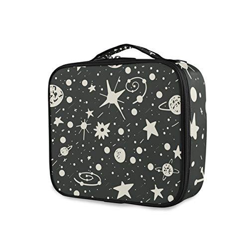 Organisateur portable Univers Planètes Meteor Tools Cosmetic Train Case Storage Makeup Bag Travel Toiletry Pouch