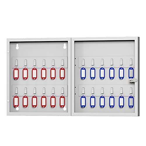 Caja De Llaves De Acero Caja De Gestión De Llaves De Pared Caja De Almacenamiento De Llaves Con Cerradura Apto Para Todo Tipo De Llaves 24/54/96 Bits Muebles ( Color : Silver , Size : 32*26.7*6.3 cm )