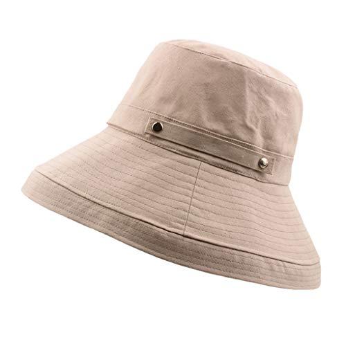 DOLDOA Hut Damen Sommer,Sonnenhut mit UV-Schutz UV-Strahlen Packbare und stilvolle Sommerhüte mit breiter Krempe (MehrfarbigD)