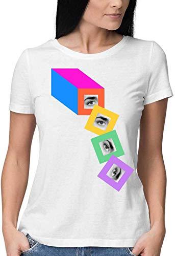 Sartamke Bread Slices with Humanity Round Neck Camiseta Mujer XX-Large