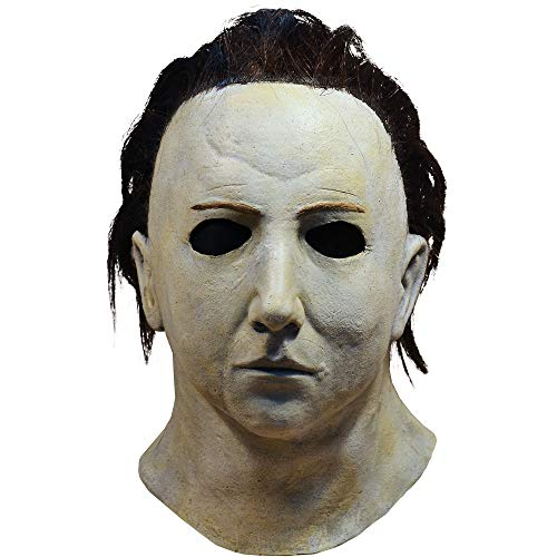 TrickOrTreatStudios Michael Myers Mask - Halloween 5, Halloween Costumes Accessory, for Adults, One Size White