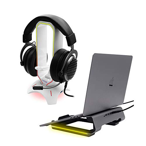 Tilted Nation RGB Gaming Headset Stand and an Ergonomic Gaming Laptop Stand, Gaming Must-Haves