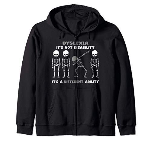 Dislexia disfraz de esqueleto regalos de halloween camiseta Sudadera con Capucha