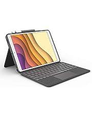 """Logitech Combo Touch iPad Air (3. Nesil) A2152, A2123, A2153, A2154 ve iPad Pro 10,5"""" A1701, A1709, A1852, Trackpad, Çıkarılabilir Klavye Kılıfı, Akıllı Konnektör, ESP QWERTY - Siyah"""