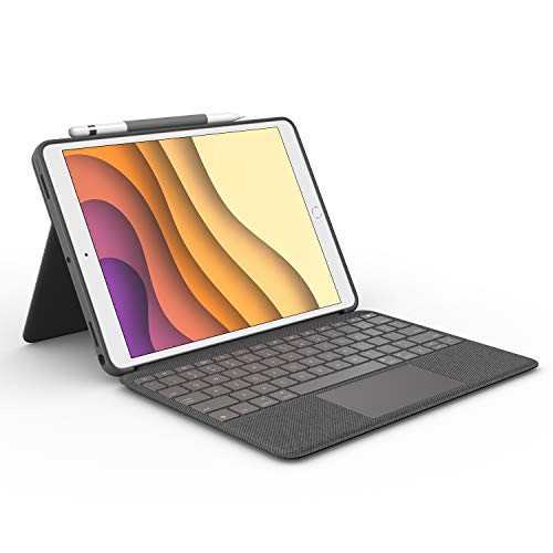 Logitech Combo Touch para iPad Air 3a generación y iPad Pro 10.5 pulgadas, funda con Teclado Retroiluminado, con Trackpad y Smart Connector, Disposición QWERTY Español, Gris